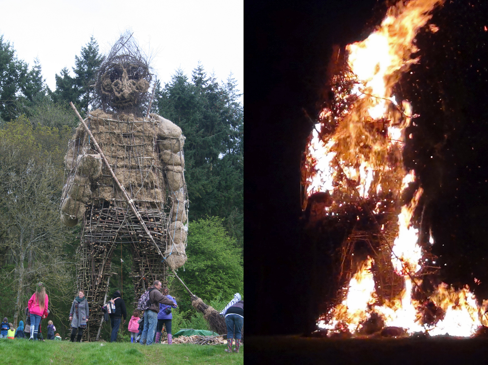 Butser Beltane Wicker Man, 2012